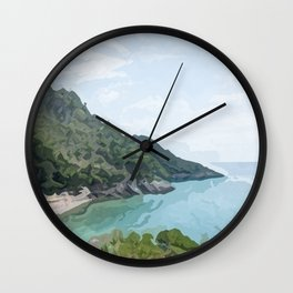 Gaeta seacoast in summer Wall Clock