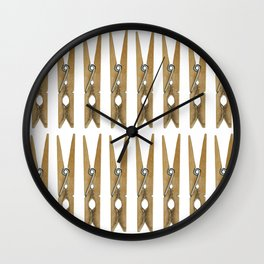 old clothes pins Wall Clock