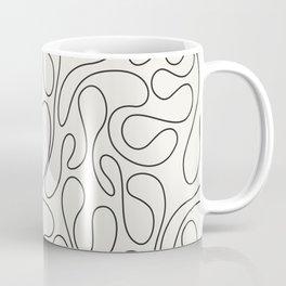 Black Lines Curves Coffee Mug