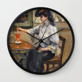 Isaac Lazarus Israels - In The Cafe - Digital Remastered Edition Wall Clock