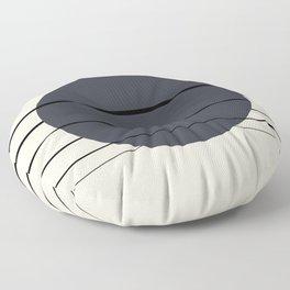 Private Moon - Deep Blue Floor Pillow