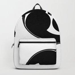 TAIKO MITSUDOMOE BLACK GRAPHIC print Backpack