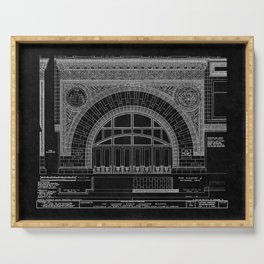 Chicago Stock Exchange 3 Serving Tray