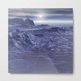 Frozen Sea of Neptune Metal Print