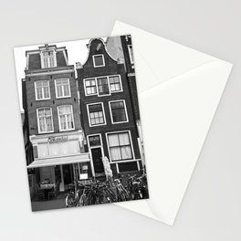 Love Amsterdam Houses and Bikes Stationery Cards