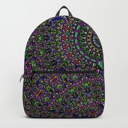 Colorful Sacred Kaleidoscope Mandala Backpack