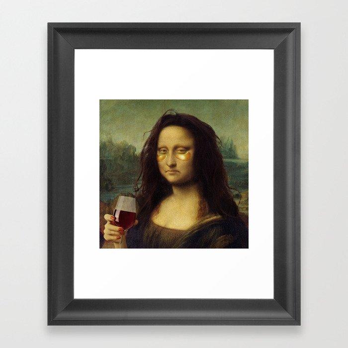 Drunk Lisa Gerahmter Kunstdruck