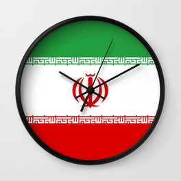 Iran Flag Three-Coloured Flag Wall Clock