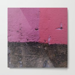 Two shades of pink - Old wall-Texture-Urban Metal Print