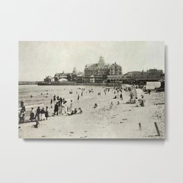 1889 Narragansett Towers, Casino, & Rockingham Hotel, Narragansett, Rhode Island Metal Print