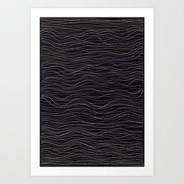 wave-stripe pattern Art Print