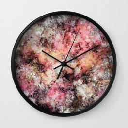 Pink stone Wall Clock
