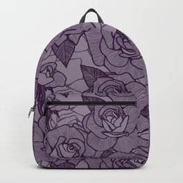 Aubergine Roses 2 Backpack