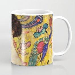 """Gustav Klimt """"Dame mit Fächer"""" Coffee Mug"""