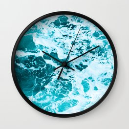 Deep Turquoise Sea - Nature Photography Wall Clock