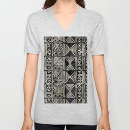 Tribal mud cloth pattern Unisex V-Neck