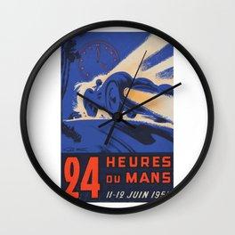 1955 Le Mans poster, vintage car poster, Le Mans poster, Wall Clock