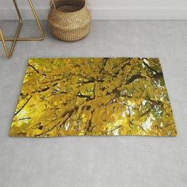 Liquid Amber Autumn Vibes Abstract Rug