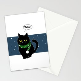 muffler cat Stationery Cards