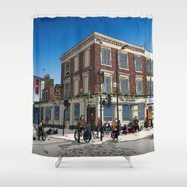London Blue Sky Shower Curtain