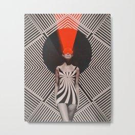Laser OP Girl Metal Print