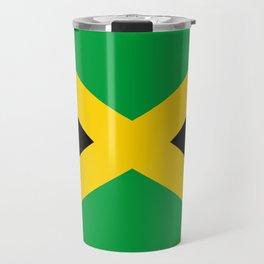 Jamaican flag, flag of Jamaica Travel Mug