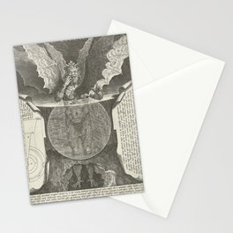 Lucifer 16th Century Engraving Stationery Cards