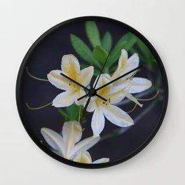 Pale Yellow Azalea Wall Clock