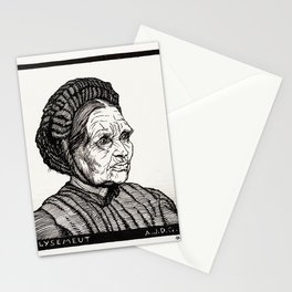 Julie de Graag - Portrait of Laren farmer's wife named Lysemeut Stationery Cards