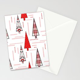 Seamless christmas applique patchwork pattern Stationery Cards