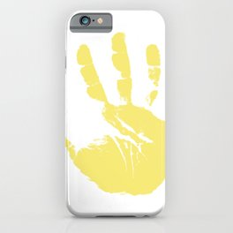 Hand Palm Print iPhone Case