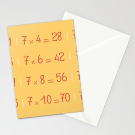 Seven Times Table Pattern Stationery Cards