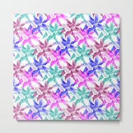 colored lilies pattern Metal Print