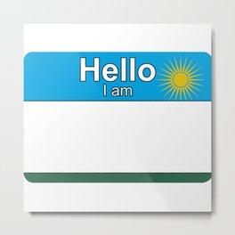 Hello I am from Rwanda Metal Print