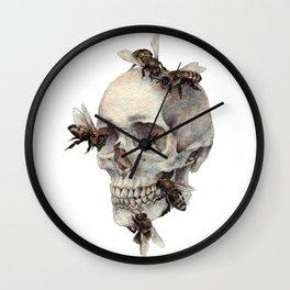 Sweet Death (Bees On Skull) Wall Clock