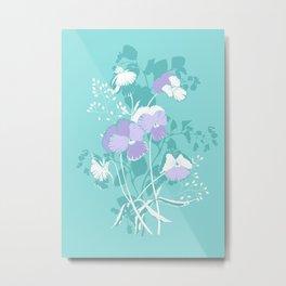 Mint pansies Metal Print