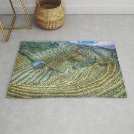 Rice Field Landscape Rug