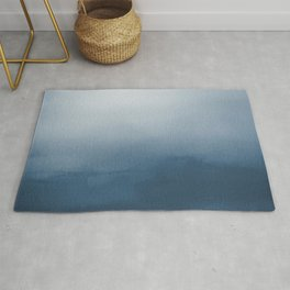 White & Blue Abstract Watercolor Blend Pairs To 2020 Color of the Year Chinese Porcelain PPG1160-6 Rug