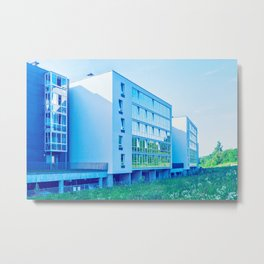 Apartment buildings with outdoor facilities Metal Print