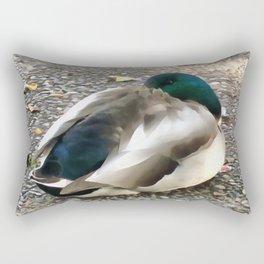 Peek A Boo Mallard Rectangular Pillow