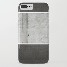 Raw Concrete and Black Leather iPhone Case