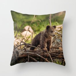 Cute Bear Cub Throw Pillow