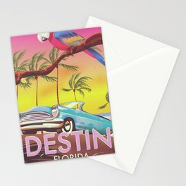Destin Florida USA vintage style travel poster Stationery Cards