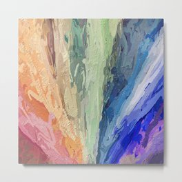 Abstract Multi-coloured 1753 Metal Print