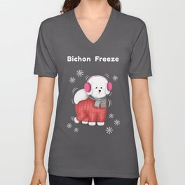 Bichon Freeze Unisex V-Neck