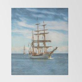 Sailing Grace Throw Blanket
