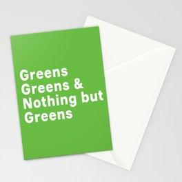 Greens, Greens, Greens Stationery Cards