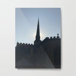 Steeple in the sky - Cambridge Metal Print