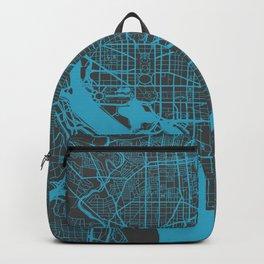 Washington map blue Backpack