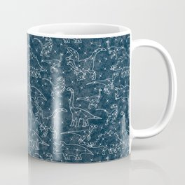 dinosaur constellations on midnight blue sky Coffee Mug